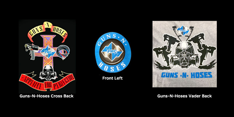 PMC Guns N Hoses T-Shirts