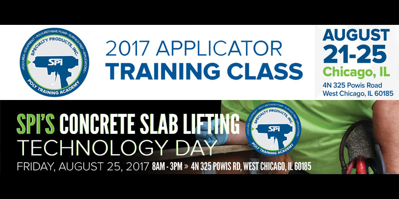 Specialty Products, Inc. Applicator Training Class / Slab Lifting