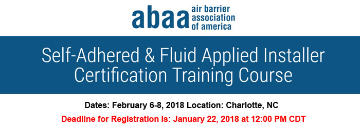Abaa Self Adhered Amp Fluid Applied Installer Certification