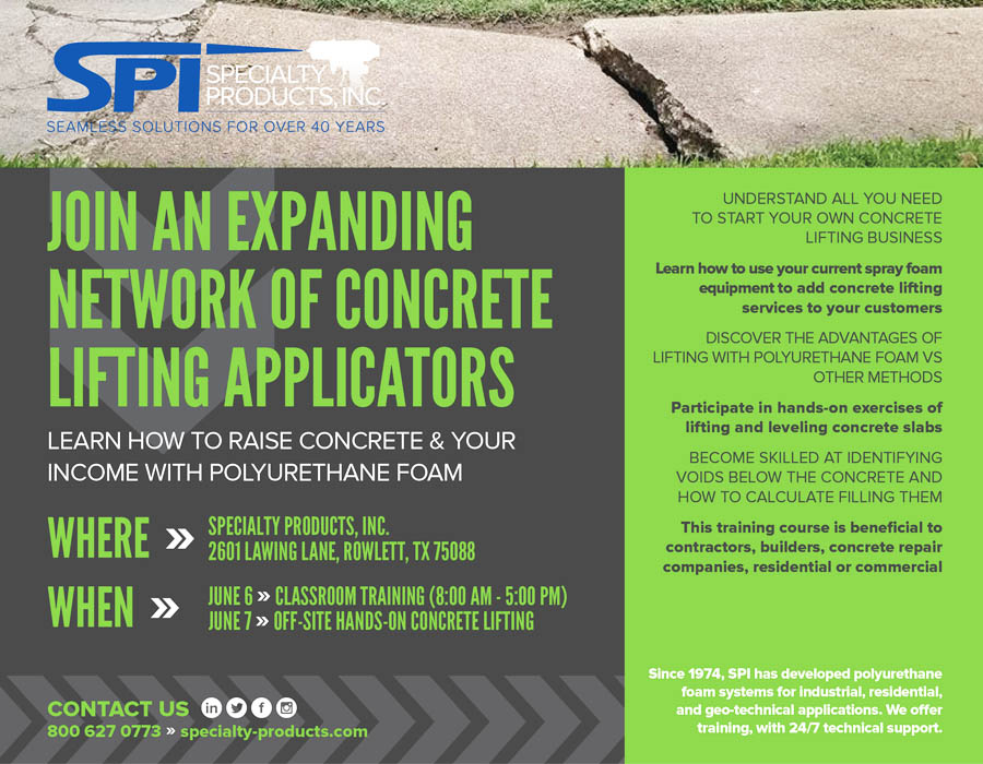 Learn How to Raise Concrete & Your Income With Polyurethane
